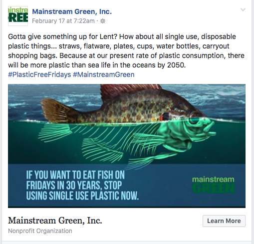 Mainstream Green: If you want to eat fish in 30 years, stop using single use plastic now. Mainstream Green.